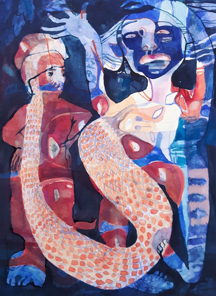 Asteen Ka Saanmp. watercolour on paper. 2016