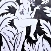 Dragonlady, ink on paper, 30cm by 22cm, 2016