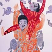 The Fertile Couple, watercolour on paper, 30cm by 22cm, 2016